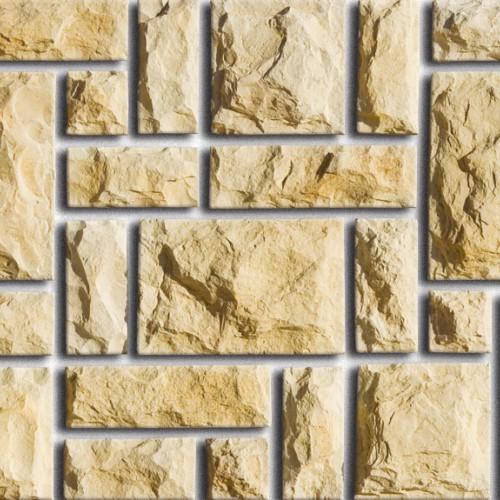 Фасадная отделка камнем цоколя и стен из коллекции Дворцовый камень